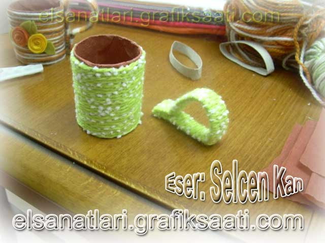 Tuvalet rulosuyla dekoratif kahve fincanı yapımı Ayşe Selcen Atılgan Kan el sanatları geri dönüşüm projeleri