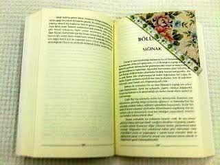 DIY ve kendin yap projesi. Kitap ayraçı yapımı Kitap adı: Sığınak