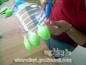 pet şişeden dekoratif avize nasıl yapılır