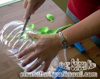 A. Selcen Kan Pet şişeden el yapımı avize modelleri