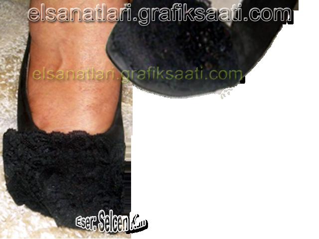 Ayşe Selcen Atılgan Kan el sanatları ayakkabı süslemeleri