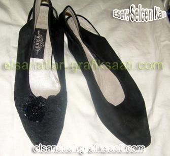 Ayşe Selcen Atılgan Kan el sanatları bayan ayakkabı süsü
