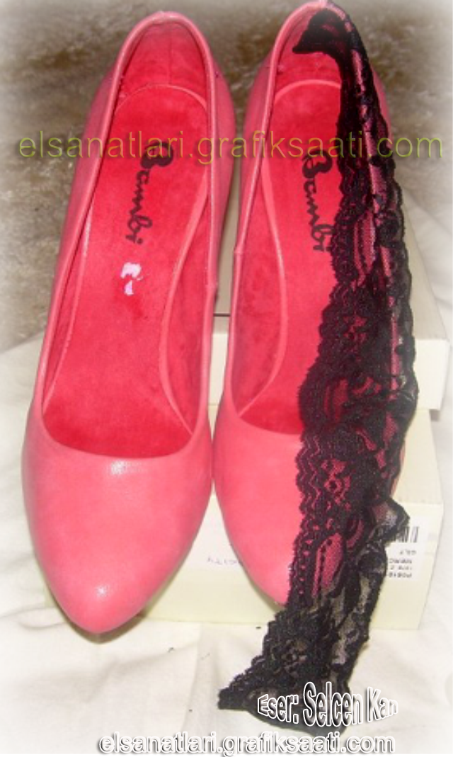 Ayşe Selcen Atılgan Kan el sanatları pembe ayakkabı modelleri