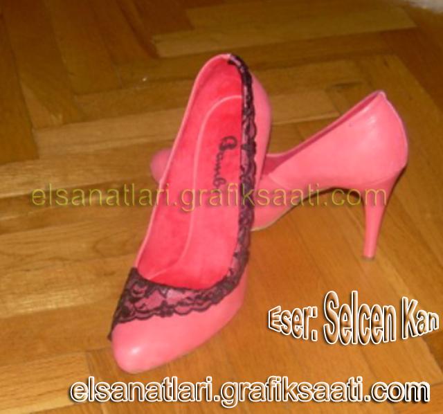 Ayşe Selcen Atılgan Kan el sanatları süslü kadın ayakkabıları
