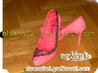 Ayşe Selcen Atılgan Kan el sanatları süslü ayakkabı modelleri