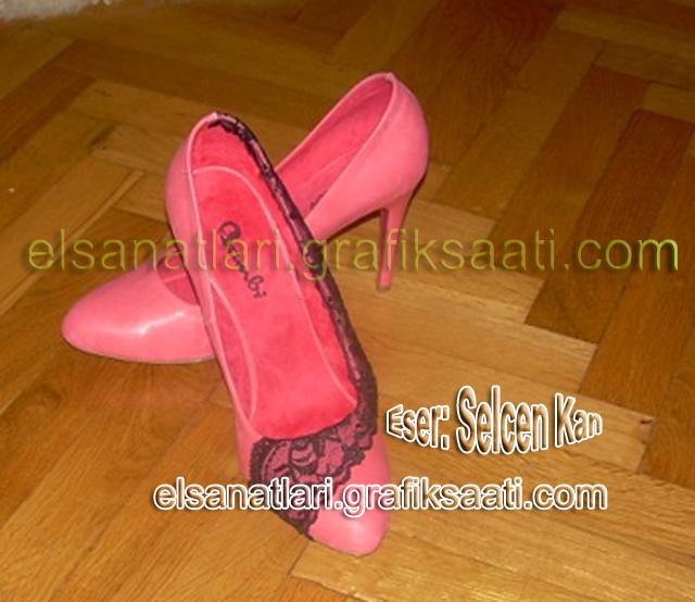 Ayşe Selcen Atılgan Kan el sanatları kadın ayakkabısı süsleme teknikleri