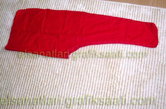 Ayşe Selcen Atılgan Kan el sanatları Nasrettin hoca kostümü kırmızı şalvar örneği